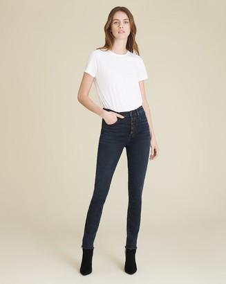 Veronica Beard Debbie High-Rise Ankle-Crop Skinny Jean