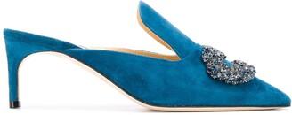 Giannico Daphne embellished mules