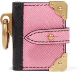 Prada Textured-leather Keychain - Pink