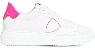 Philippe Model Temple Veau Neon Leather Sneakers