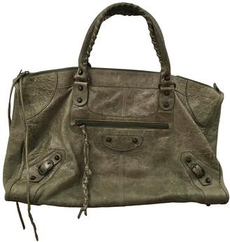 Balenciaga Work Green Leather Handbags