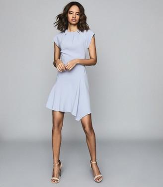 Reiss Belle - Capped Sleeve Dress in Pale Blue