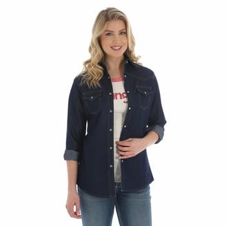 Wrangler Women's Long Sleeve Western Yoke Snap Shirt