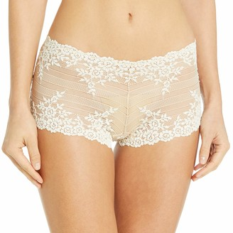 Wacoal Women's Embrace Lace Boy Short Pant Naturally Nude/Ivory 5