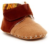Toms Tiny Cuna Faux Shearling Suede Felt Slipper (Baby)