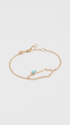 Jennifer Zeuner Jewelry Open Hamsa Bracelet with Turquoise