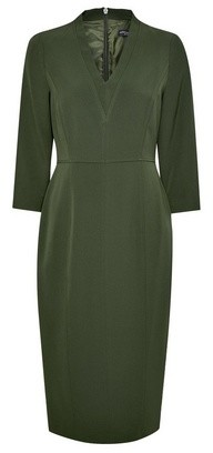 Dorothy Perkins Womens Olive Green 3/4 Sleeve V