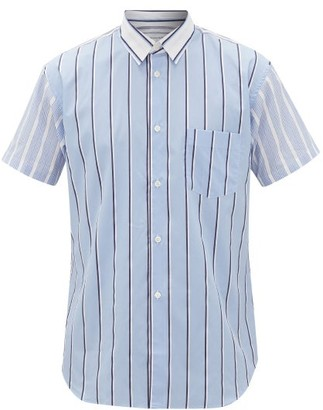Comme des Garçons Shirt Striped Cotton-poplin Shirt - Blue Multi