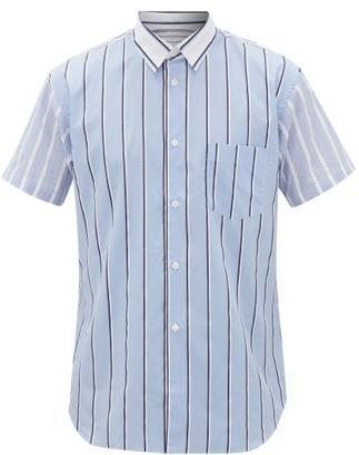 Comme des Garcons Striped Cotton-poplin Shirt - Mens - Blue Multi