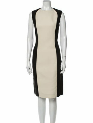 Marni Colorblock Pattern Knee-Length Dress w/ Tags Black