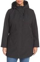Kristen Blake Crossdye Hooded Soft Shell Jacket (Plus Size)