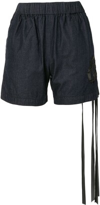 No.21 Bow-Detail Denim Shorts