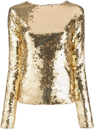 Andamane Sequinned Slim-Fit Top