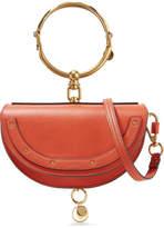 Chloé Nile Bracelet Mini Textured-leather Shoulder Bag - Tomato red