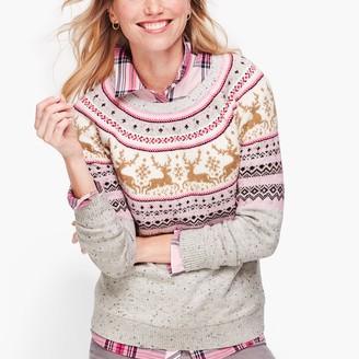 Talbots Reindeer Fair Isle Sweater