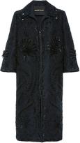 Naeem Khan Sequin Embroidered Coat