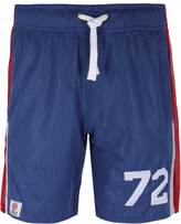 Franklin & Marshall Original Blue Mesh Panelled Shorts