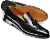 Charles Tyrwhitt Black Harley apron tassel loafers