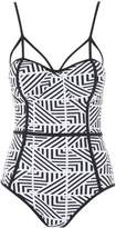 Jane Norman Mono Aztec Print Swimsuit