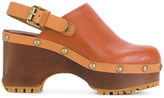 See by Chloe heeled clogs - women - Calf Leather/wood/rubber - 36
