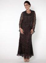 Soulmates D7068 Crochet Lace Straps Three Pieces Gown
