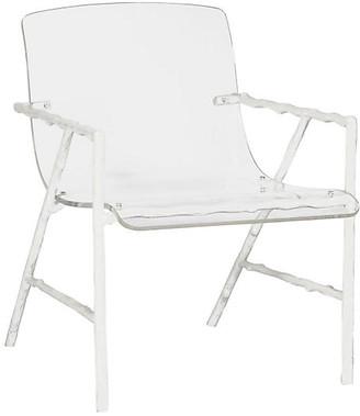 One Kings Lane Sullivan Acrylic Chair - Porcelain White