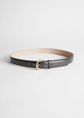 And other stories Leather Half Circle Buckle Belt