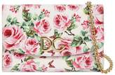 Dolce & Gabbana Rose Printed Dauphine Leather Clutch
