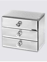 M&S Collection Glitter Diamanté 3 Drawer Jewellery Box