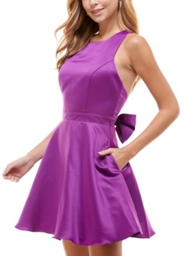 City Studios Juniors' Bow-Back Party Dress