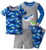 Gerber Toddler Boys' ; 4-Piece Shark PJ Set - Blue