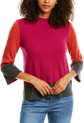 Forte Cashmere Colorblocked Cashmere Sweater