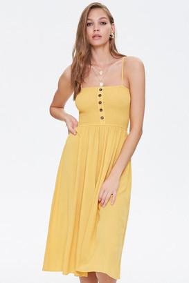 Forever 21 Smocked Cami Midi Dress