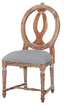 Leslie Dining Chair, Natural/Gray