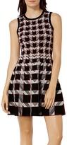Karen Millen Houndstooth A-Line Dress