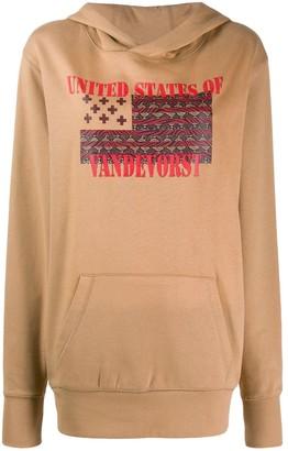 A.F.Vandevorst Justice graphic print hoodie
