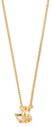 Saint Laurent Monogram Twist pendant necklace