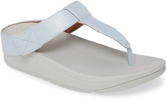 FitFlop Mina Shimmer Denim Toe Thong Sandal