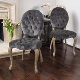 Christopher Knight Home Marianne Velvet Dining Chair (Set of 2)