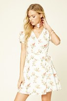 Forever 21 FOREVER 21+ Contemporary Bird Print Dress