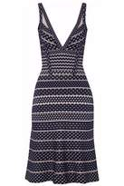 Herve Leger Fluted Intarsia Bandage Dress