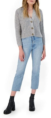 BB Dakota Speckle Agent Sweater (Heather Grey) Women's Clothing