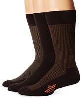 Dockers 3 Pack Cushion Dress - Ultimate Fit Houndstooth Crew Socks 10-13 Sock/6-12 Shoe