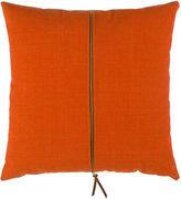 Rejuvenation Orange and Slate Zipper Pillow