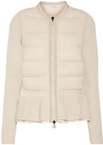 Moncler Quilted Knitted Cardigan - Beige