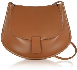 Jil Sander Leather Small Crescent Shoulder Bag