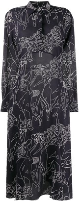 Victoria Victoria Beckham Cabaret abstract print shirt dress