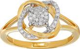 FINE JEWELRY 1/6 CT. T.W. Diamond 10K Yellow Gold Ring