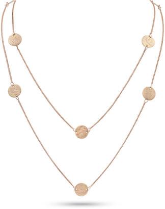 """Dominique Cohen Griffin Coin 18k Rose Gold Long Necklace, 42""""L"""