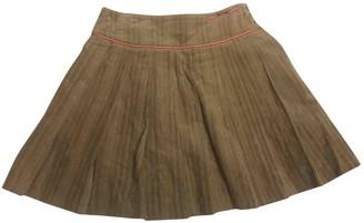 Christian Dior camel Cotton Skirts